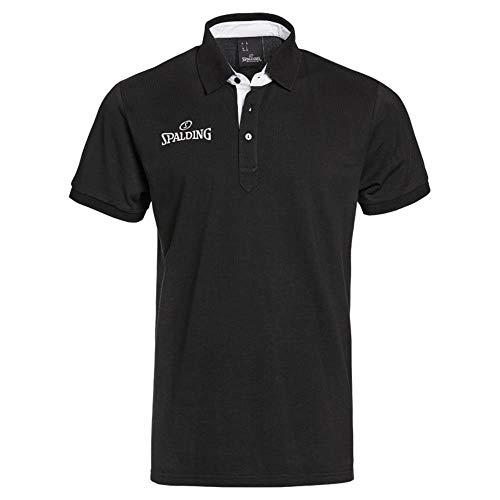 Spalding Prime Polo Polo para Hombre, Hombre, Negro, L