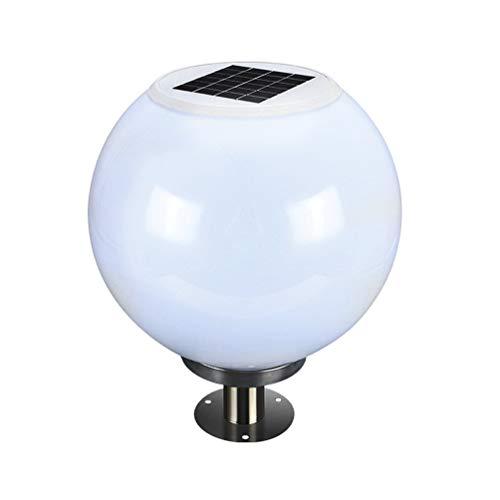 ACHNC Pfostenlichter Solar Außenleuchte Sockelleuchte Außen Solar Gartenleuchte Pfostenleuchte Edelstahl Wegeleuchte Post Zaun Terrassen-Beleuchtung,Acryl Lampenschirm,33CM