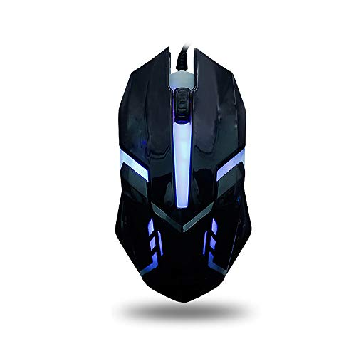 Wired Gaming Mouse,Ergonomic USB Optical Mouse Mice with Chroma RGB Backlit,1600 DPI for Windows PC Laptop Desktop Computer Games