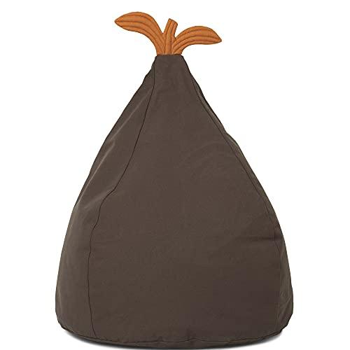 ferm Living 100364410 Sitzsack Pear Bean Bag - Green 117 x 55 x 35 cm, 100% Bio-Baumwolle