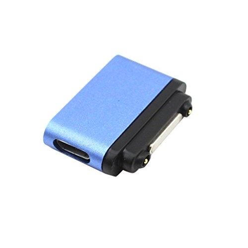 non-brand Mini Cable Conector Magnético Cargador De Alimentación USB para Sony Xperia Z3 Z2 Z1 - Azul