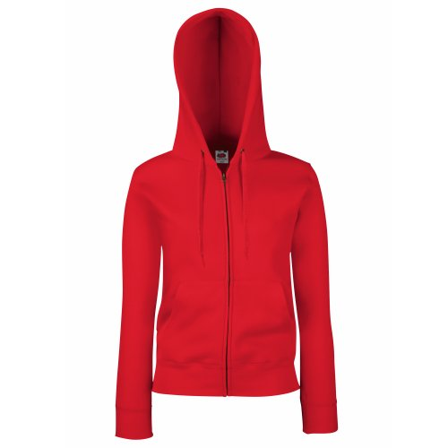 Fruit of the Loom - Sweatshirt à Capuche et Fermeture zippée - Femme (XS) (Rouge)