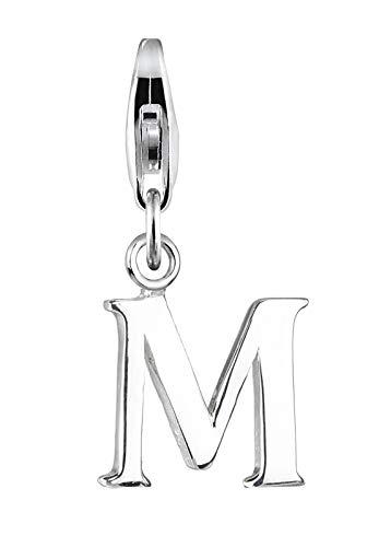Elli Charm Damen Buchstabe M Initialie in 925 Sterling Silber