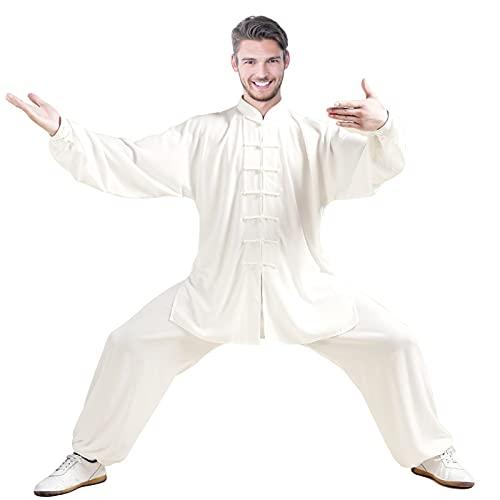 E-Bestar Tai Chi Abbigliamento con Seta Cotone per Donna Uomo Unisex Modelli Gong Fu Arti Marziali Tai Chi Abiti da Arti Marziali Completi Abbigliamento