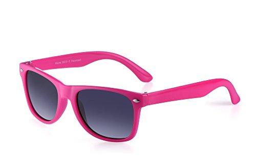 Miuno Miuno® Kinder Sonnenbrille Polarisiert Polarized Wayfare Etui 6833a (Pink)
