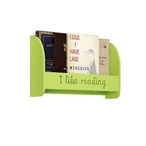 TLMYDD wandframe, gratis perforatie, eenvoudige krantenrek, boekenrek om op te hangen in nachtkastje, bibliotheek