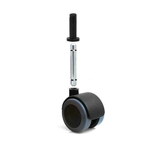 Design61 4er Set Universal Möbelrolle Gummirolle Lenkrolle Laufrolle Bodenschutz Rollen mit Hülse + Stift