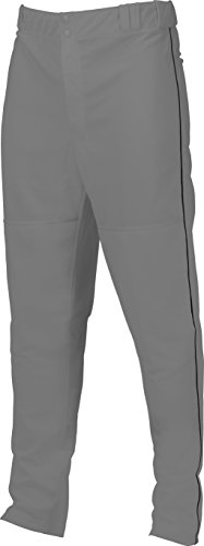 Marucci Youth Elite Double Knit Piped Baseball Pant, Gray/Black, Small