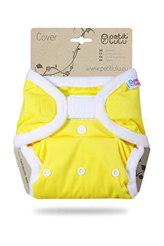 Petit Lulu maat 2 PUL overbroek (4-15 kg) | klittenband | One Size luier broek | baby luier | wasbaar & waterdicht | stoffen luiers | gemaakt in EU geel