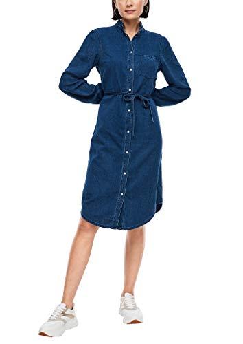 s.Oliver Damen Jeanskleid mit Bindegürtel Blue 38