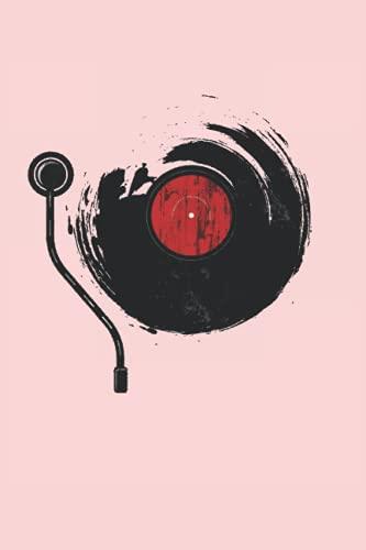 Vinilo grunge: Disco de vinilo vintage old school DJ analógico regalo cuaderno forrado (formato A5, 15, 24 x 22, 86 cm, 120 páginas)