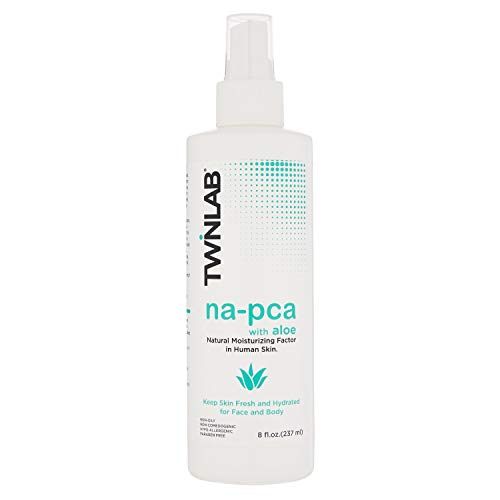 Twinlab Na-PCA With Aloe Vera - An Anti-Aging, Hydrating, Body & Face Moisturizer For Irritation & Dry Skin Relief - Hypoallergenic, Vegan & Cruelty Free Skin Care - (8 oz.)