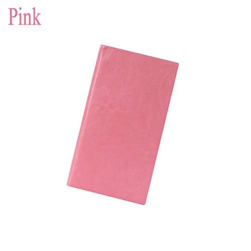 Heng Notebook Planner Agenda Dagboek Leerboek Small Pocket Notepad Line Stationery, A6 Pink, A7