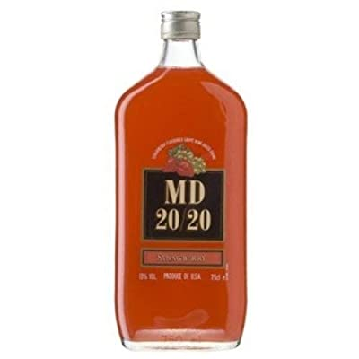 MD 20/20 Strawberry Rosé Flavour Fortified Wine 75cl Bottle
