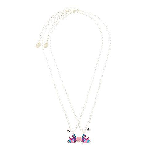 Claire's Matching Lala The Llamacorn Pendant Best Friends Necklaces, Silver...