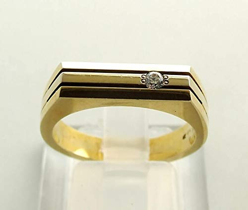 14 karaat Christian gouden ring met zirkonia