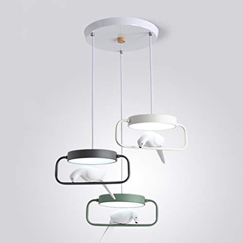 XCXC Kronleuchter, Kreativ 3 Kopf Einfache Rundschmiedeeisen LED 45W Pendelleuchte, Alec Lampshade Wohnzimmer Schlafzimmer Korridor Dekorative Deckenleuchte (Color : C-Disc)