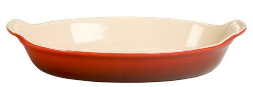 Le Creuset Stoneware Heritage Oval Au Gratin, 6 oz. (6.5'), Cerise