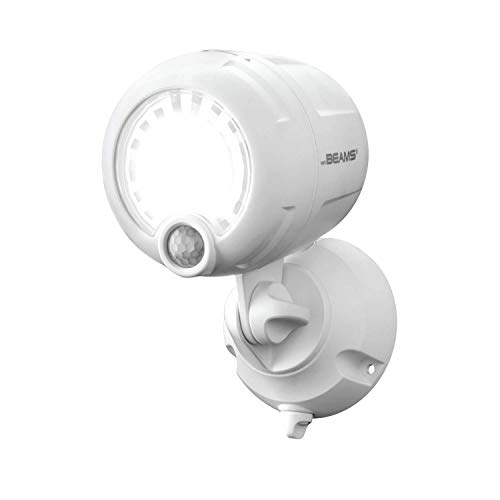 Mr. Beams MB360XT-WHT-01-00 Wireless 200 Lm Battery-Operated Outdoor Motion-Sensor-Activated Led Spotlight, White, 1-Pack