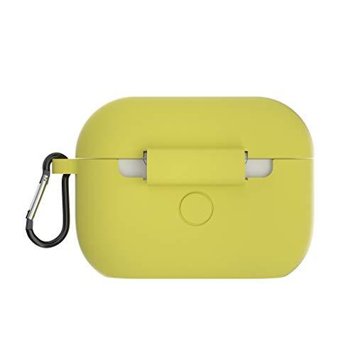 Eariy Siliconen hoes, compatibel met Apple Airpods 1 & 2 (led aan de voorzijde zichtbaar), ondersteunt draadloos opladen, schokbestendige beschermhoes, perfect passend hoesje, met haak