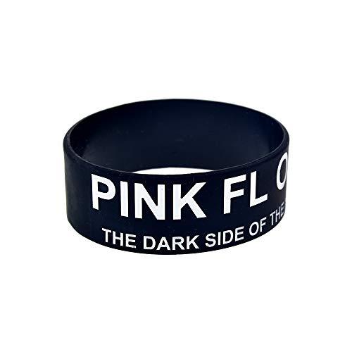Hjyi Pulseras de Silicona, Pulseras de Silicona con Refranes Pink Floyd Pulseras de Goma Suave Regalo de cumpleaños para Adultos y niños, 10 Piezas