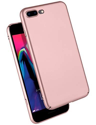 GOOSPERY iPhone 8 Plus Case/iPhone 7 Plus Case Ultra Thin Hard PC Defender Phone Cover [Slim Fit] for Apple iPhone 7 Plus (2016) / iPhone 8 Plus (2017) - Rose Gold, IP8P-UTPC-RGLD