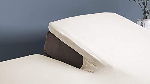 Elegance Splittopper Hoeslaken Flanel - ivoor 180x210/220cm