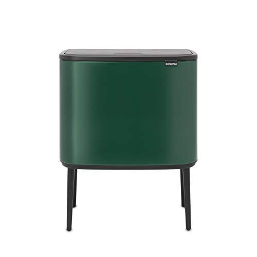 Brabantia Recycling Bin, Pine Green, 11 + 23 Litre