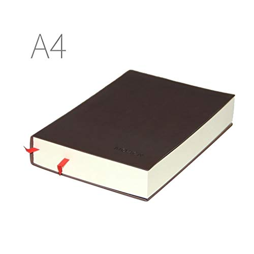 Notebooks Notebook Thick Business Journal Notebook A4 and A5 Page Work Journals Commercial Leather Log Stationery Composition Writing Diaries Notebooks (Color : A, Size : A4)