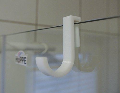 Moderne Haken für Duschkabine/Duschhaken (Weiß, 4er Pack) (6mm)