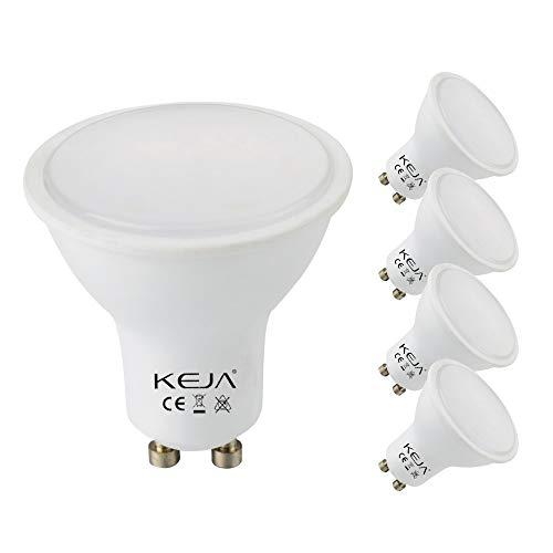 GU10 LED Lampen 5 Stück 6Watt, 5200 Lumen pro Glühbirne, entspricht 60Watt Glühlampe, 2700 Kelvin Warmweiß, 120° Abstrahlwinkel Energiesparlampe