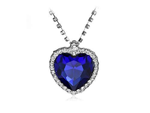 Collar de corazón de titanio, corazón de corazón, collar de titanio de alta calidad, diseño de corazón