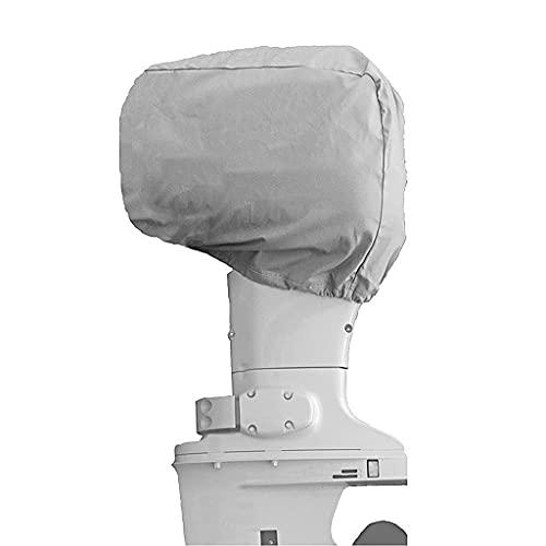 210D Oxfordship Cubierta de protección del Motor Lateral Motor de Tela Cubierta de Motor de Bote fueraborda Completo Cubierta Impermeable para Bote Máscara de protección contra el Polvo Rainsilver (