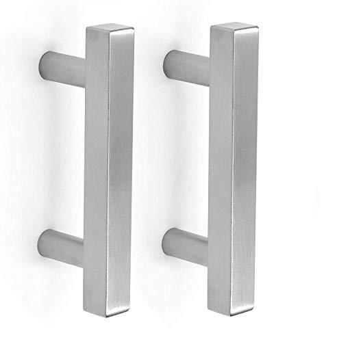 homdiy 3 in Cabinet Handles Brushed Nickel 25 Pack - HDJ22SN T Knob Cabinet Pulls 3in Cabinet Hardware Pulls Metal Drawer Pulls for Kitchen, Bathroom, Closet, Wardrobe
