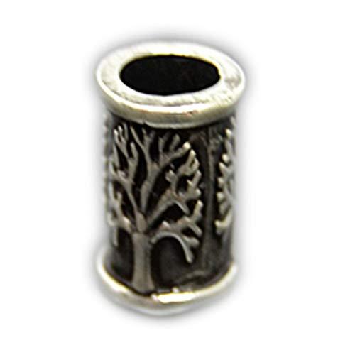 Barthülse Baum des Lebens925 Sterling Silber Schmuck Haar Bart Boho Festival Länge:ca. 2,0 cm, Breite:ca. 0,9cm