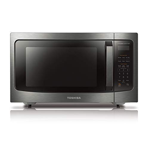 Toshiba 1.6 cu.ft. Black Stainless Steel Countertop Microwave Oven - $161.99