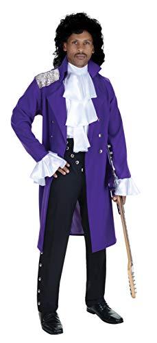 Underwraps Men's Purple Prince Rogers Nelson Costume, Standard or XL