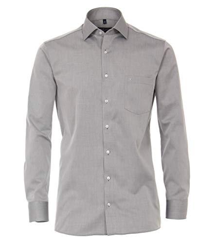 Casa Moda - Comfort Fit - Bügelfreies Herren Business Langarm Hemd (006880), Kragenweite:47, Farbe:Silber (700)