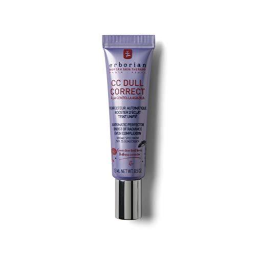 Erborian - CC Dull Correct - Soin Perfecteur Automatique de Teint - Booster d'Eclat, Teint Unifié - Soin du Visage Coréen - 15ml
