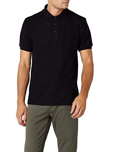 Fruit of the Loom Ss033m Polo, Negro (Black), Medium (Talla