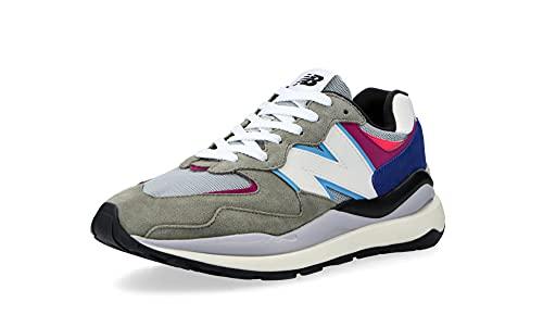 New Balance 57/40 - Zapatillas deportivas para hombre, diseño de los años 90, gris, azul, morado., 40 EU