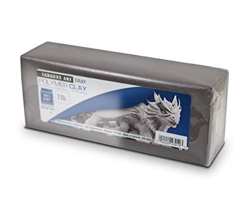 Sargent Art Polymer Baking Clay, Gray