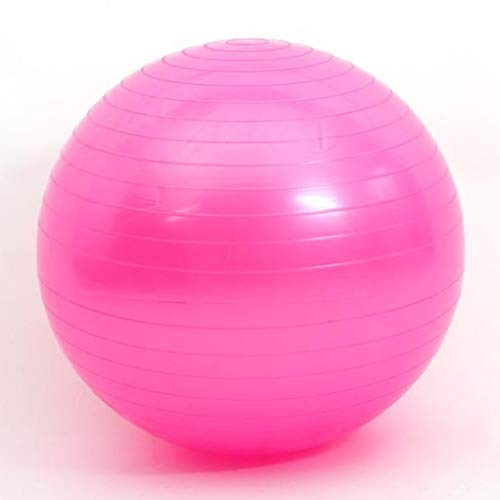 Pinhan Yoga Gymnastikball Anti-Burst Stabilitätsball für Pilates Fitness Verbessert das Gleichgewicht,Rosa