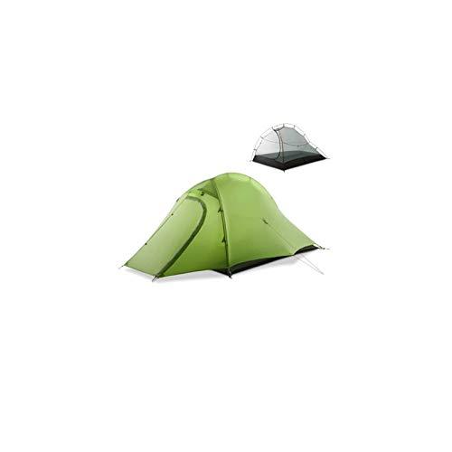 SHUMEISHOUT El Nuevo Tienda instantánea Tienda 2 Persona Easy Configure Doble Capa Impermeable 3 Temporada campaña campaña para Caminatas al Aire Libre Pesca al Aire Libre (Color : Green)