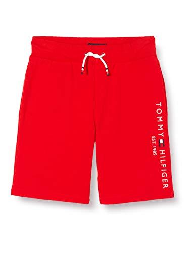 Tommy Hilfiger Jungen Essential Sweatshort Short, Rot (Deep Crimson 106-880 Xnl), One Size (Herstellergröße: 74)