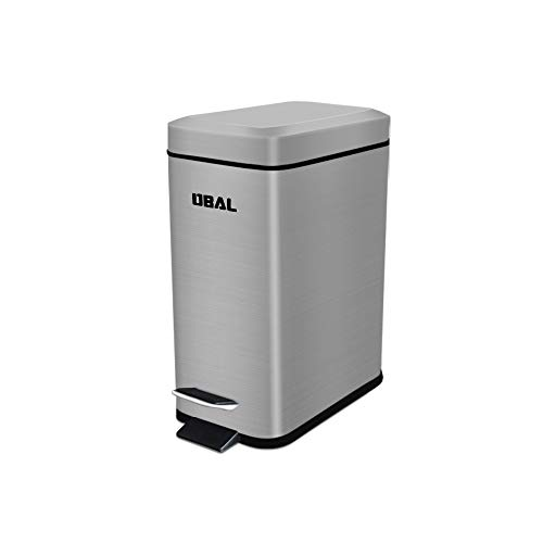 DBAL 1.3Gallon/5L Small Pedal Step Trash Can with Lid Rubbish Bin Soft Silent Lid Closefor Bathroom, Bedroom, Office, Kids Room