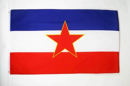 AZ FLAG Flagge JUGOSLAWIEN 90x60cm - JUGOSLAWISCHE Fahne 60 x 90 cm - flaggen Top Qualität