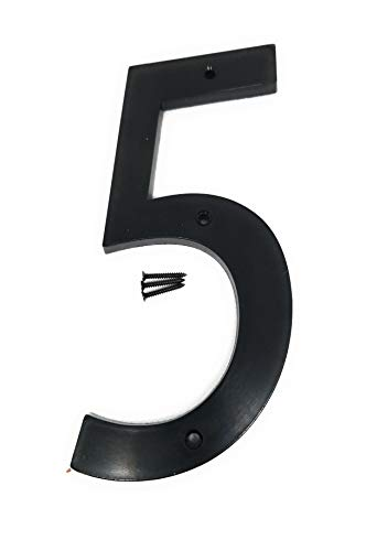 6 Inch House Numbers-Home Address Number-Street Numbers for Outdoor/Exterior/Building/Apartment/Yard/Farmhouse-Black, Number 0-9 Letter A-B-C (5)