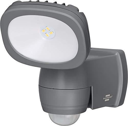 Brennenstuhl Batterie LED Strahler LUFOS / Kabelloser LED Außen-Strahler mit Batterie und Bewegungsmelder (Fluter batteriebetrieben mit 4 hochwertigen Marken LEDs, 210 Lumen, für außen IP44)