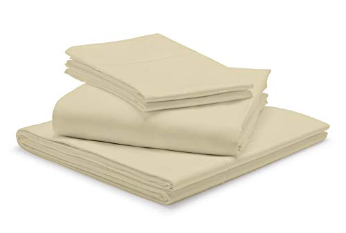"""Extra DEEP Pockets 1000 TC 100% Egyptian Cotton Taupe RV-King Sheets Set, 4-Piece Extra Long-Staple Combed Cotton Best-Bedding Sheets, Breathable Soft & Silky Sateen Weave Fits Mattress 25"""" Deep"""